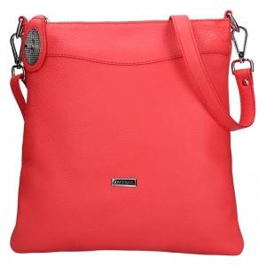Dámská kožená crossbody kabelka Facebag Amanda - červená
