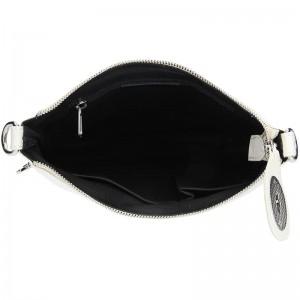 Dámská kožená crossbody kabelka Facebag Amanda - bílá