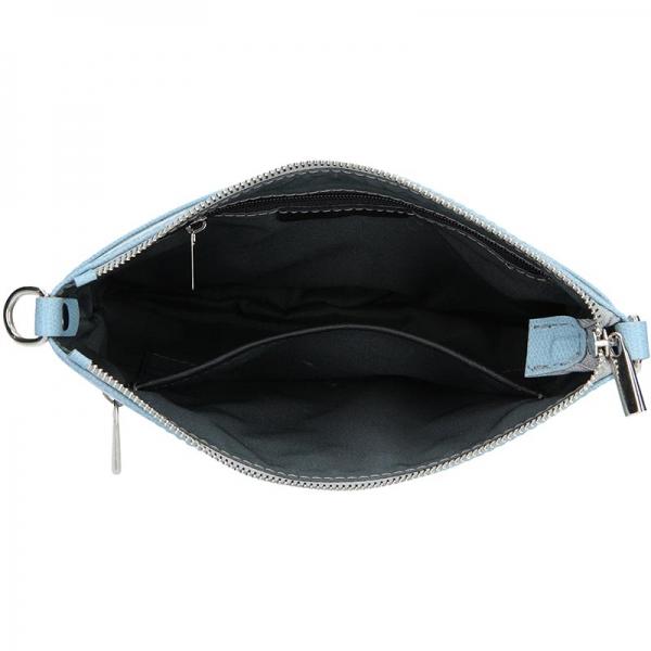 Dámská kožená crossbody kabelka Facebag Paula - modrá