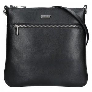 Dámská kožená crossbody kabelka Facebag Paula - černá