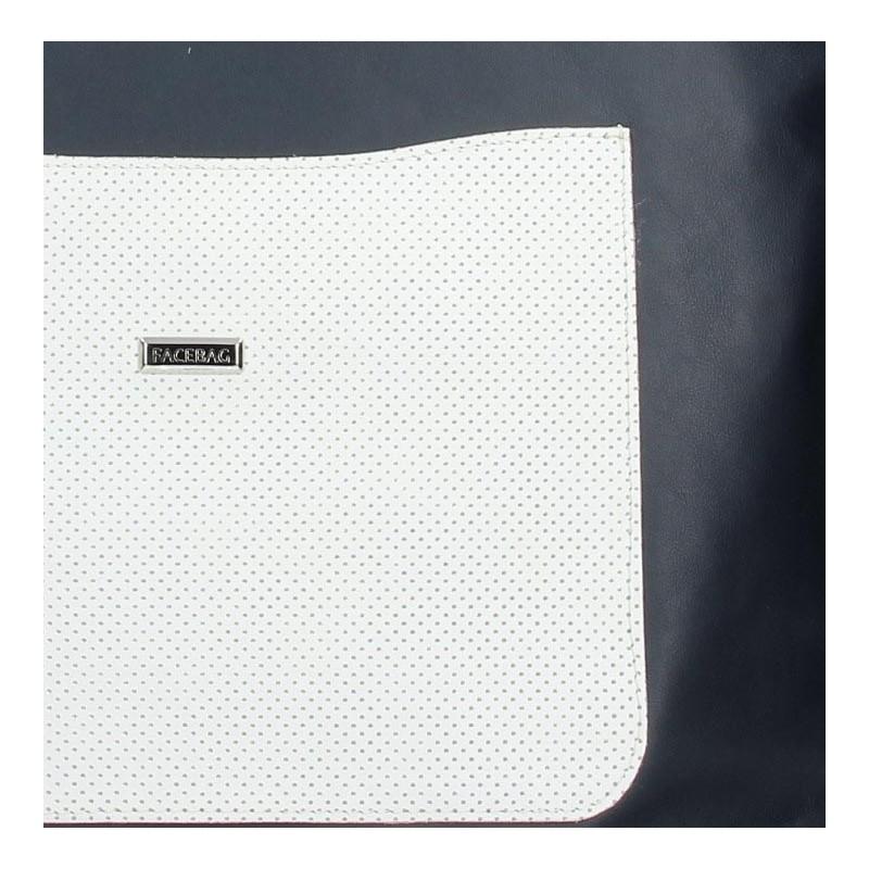 Dámská kožená kabelka Facebag Tera - modro-bílá