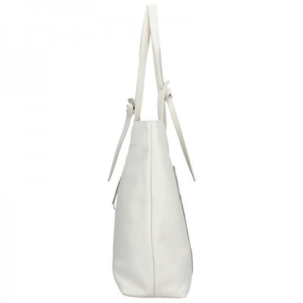 Dámská kožená kabelka Facebag Tera - krémová
