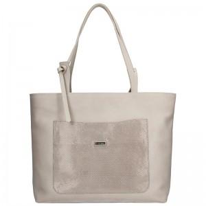 Dámská kožená kabelka Facebag Tera - béžová