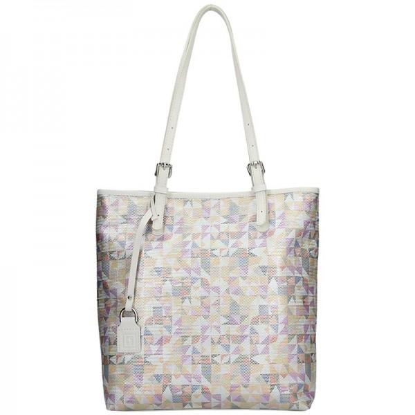 Dámská kožená kabelka Facebag Nora - béžová