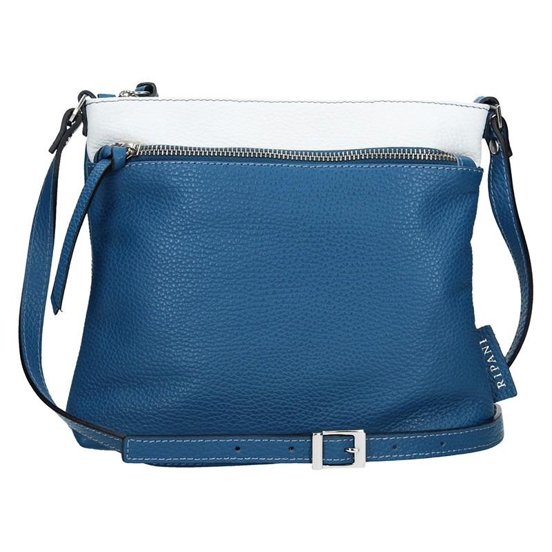 Dámská kožená kabelka Ripani Rafaela - modrá