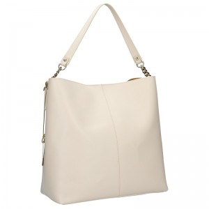 Dámská kožená kabelka Ripani Laura - béžová
