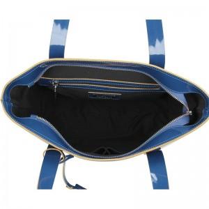 Dámská kožená kabelka Ripani Miranda - modrá