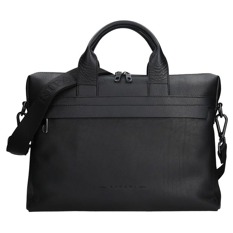 Luxusní kožená pánská taška Ripani Alberto - černá