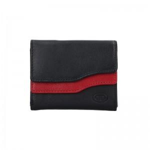 Dámská kožená peněženka DD Anekta Karolína - černo-červená