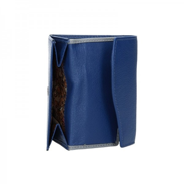 Dámská kožená peněženka DD Anekta Karolína - modro-šedá