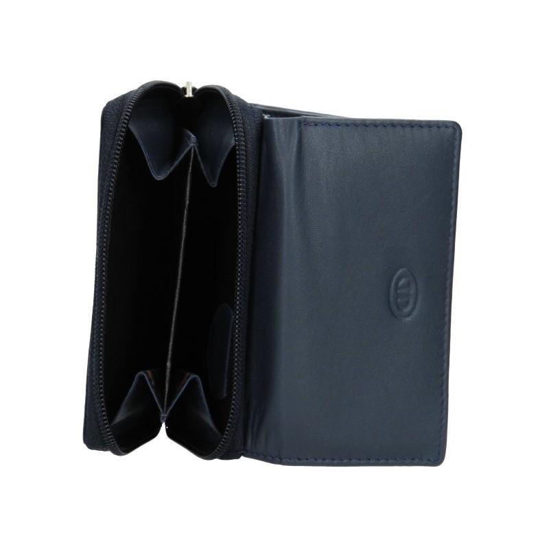 Dámská kožená peněženka DD Anekta Anita - modrá