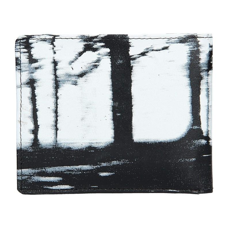 Pánská kožená peněženka DD Anekta Prokop - černo-bílá
