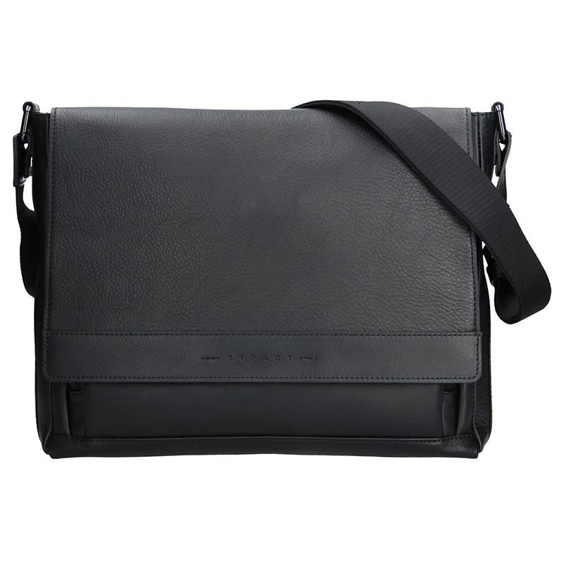 Luxusní kožená pánská taška Ripani Uran - černá
