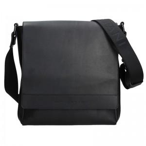 Luxusní kožená pánská taška Ripani Saturn - černá
