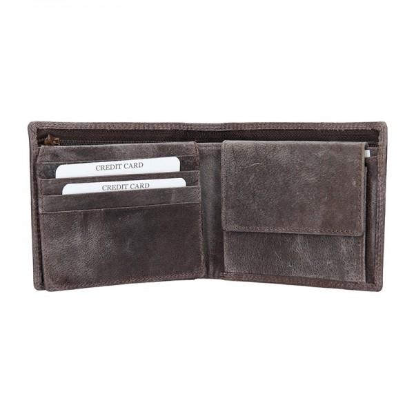 Pánská kožená peněženka DD Anekta Robin - hnědá