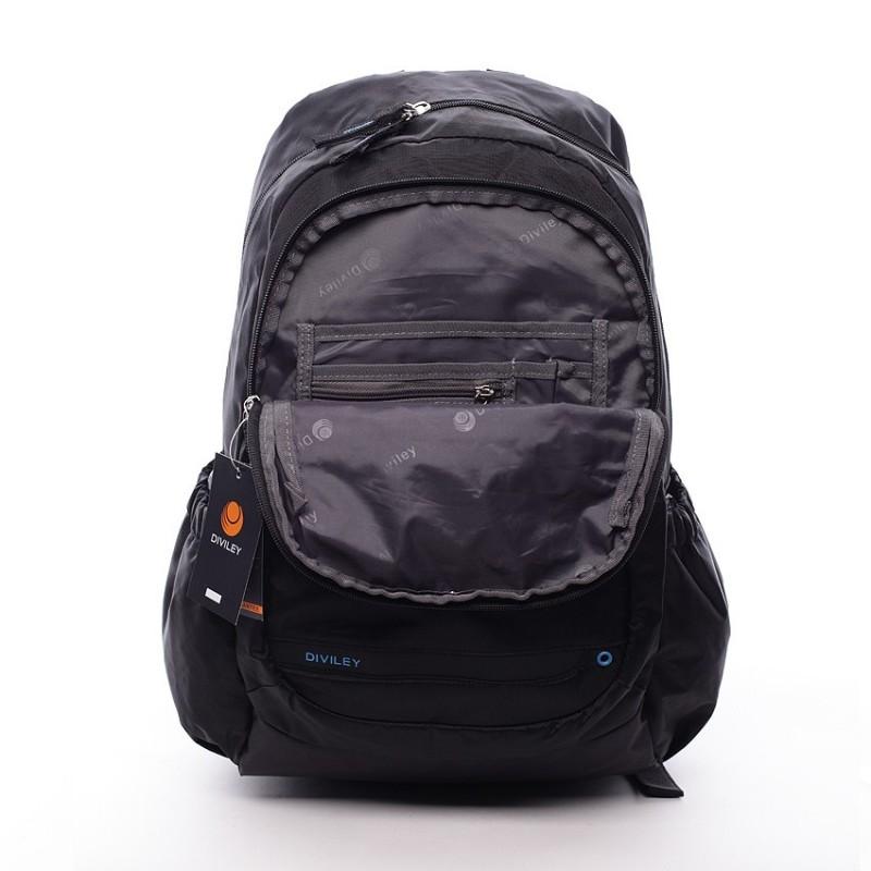 Černý moderní batoh Diviley Orion