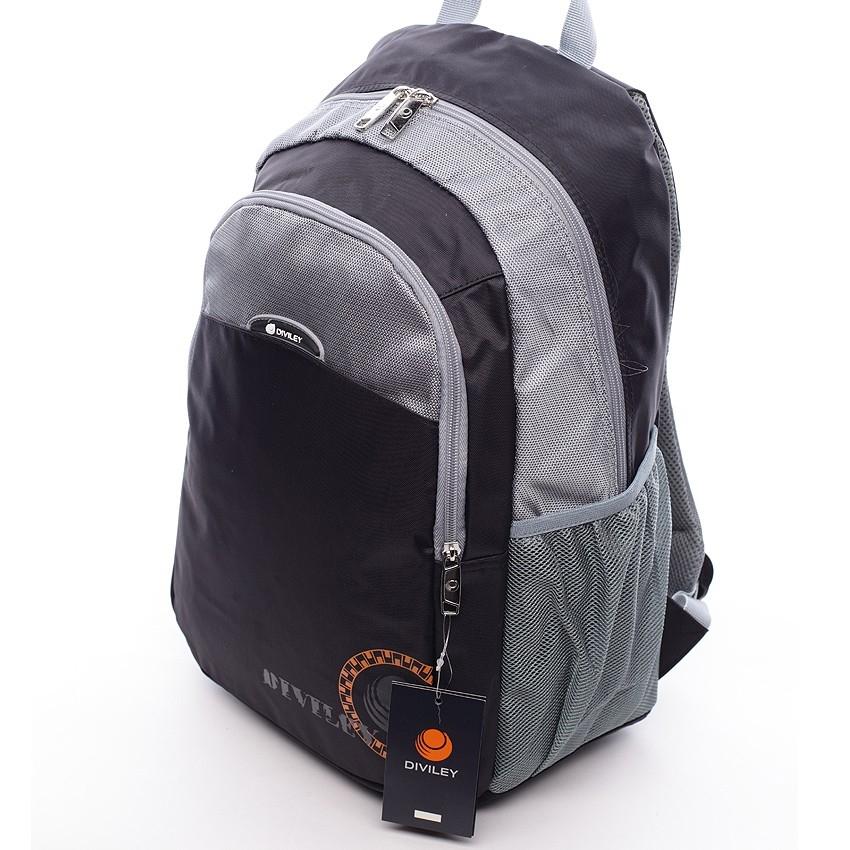 Černo-šedý moderní batoh Diviley Jett facd422756