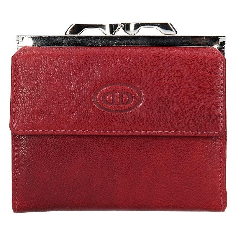Dámská kožená peněženka DD Anekta Linda - červená