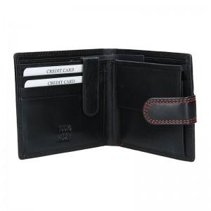 Pánská kožená peněženka DD Anekta Maxim - černá