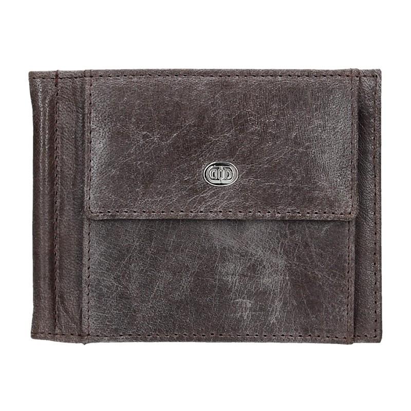 Pánská kožená peněženka DD Anekta Milan - hnědá