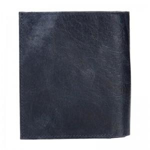Pánská kožená peněženka DD Anekta Jaroslav - modrá