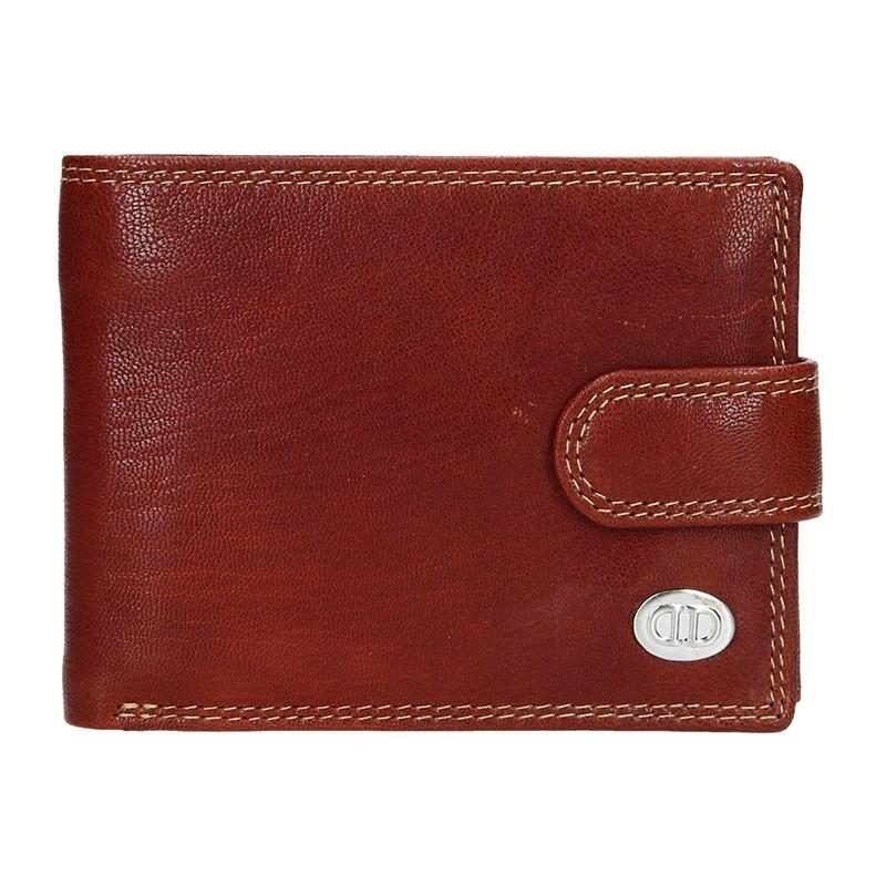 Pánská kožená peněženka DD Anekta Samuel - koňak
