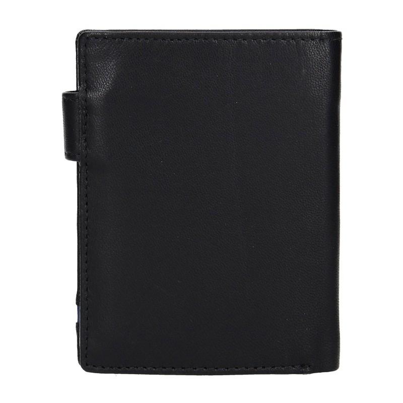 Pánská kožená peněženka DD Anekta Vít - černá