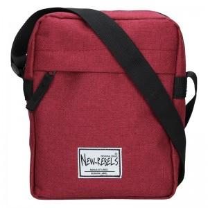 Pánská taška přes rameno New Rebels Luis - vínová