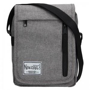 Pánská taška přes rameno New Rebels Bruno - šedá
