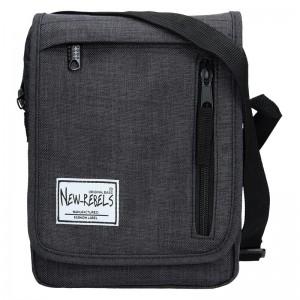Pánská taška přes rameno New Rebels Bruno - černá