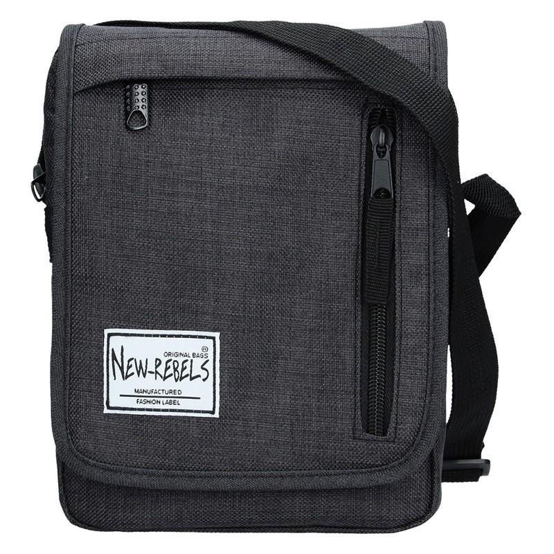 Pánská taška přes rameno New Rebels Bruno - černá 131201b3da