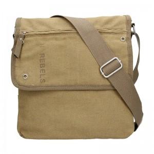 Pánská taška přes rameno New Rebels Paul - hnědá