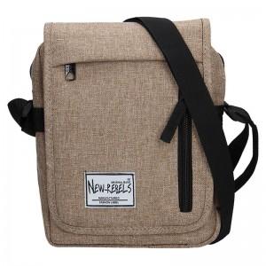 Pánská taška přes rameno New Rebels Bruno - světle hnědá