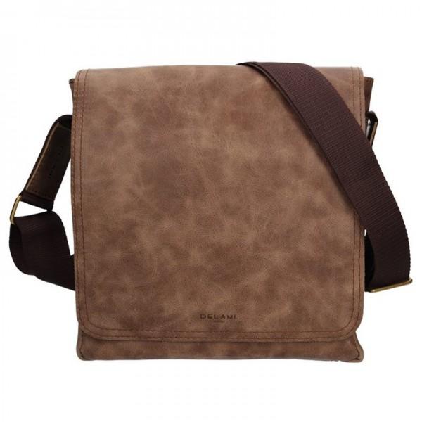 Pánská kožená taška na doklady Delami Marco - Hnědá