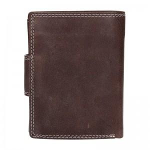 Pánská kožená peněženka DD Anekta Dalibor - hnědá