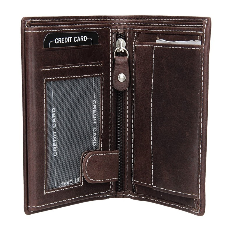 Pánská kožená peněženka DD Anekta Kamil - hnědá