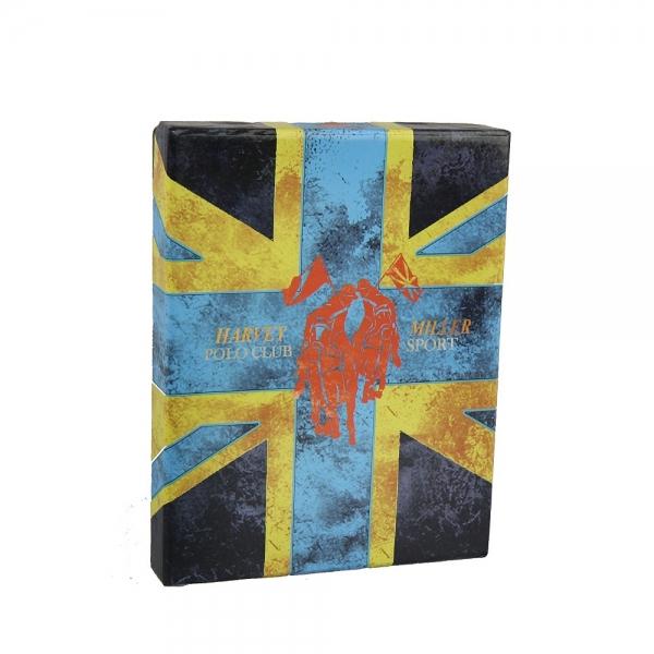 Pánská kožená peněženka Harvey Miller Bill - černá