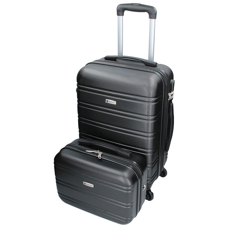 Sada dvou cestovních kufrů Airtex Worldline 531/2 - černá
