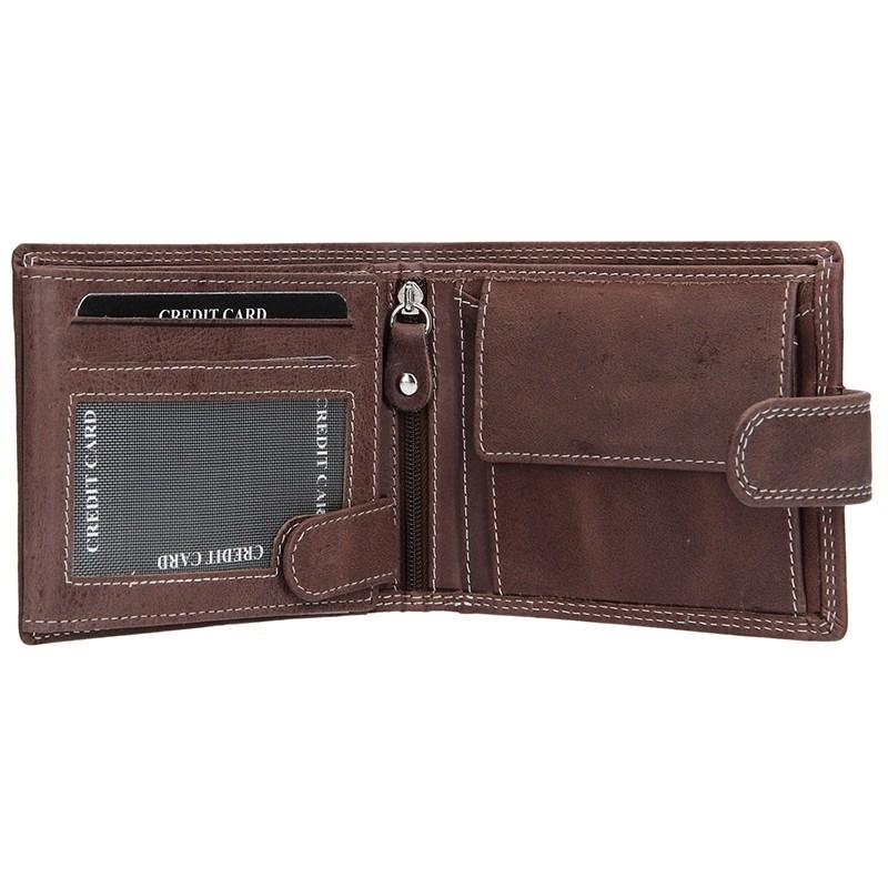 Pánská kožená peněženka DD Anekta Petr - hnědá