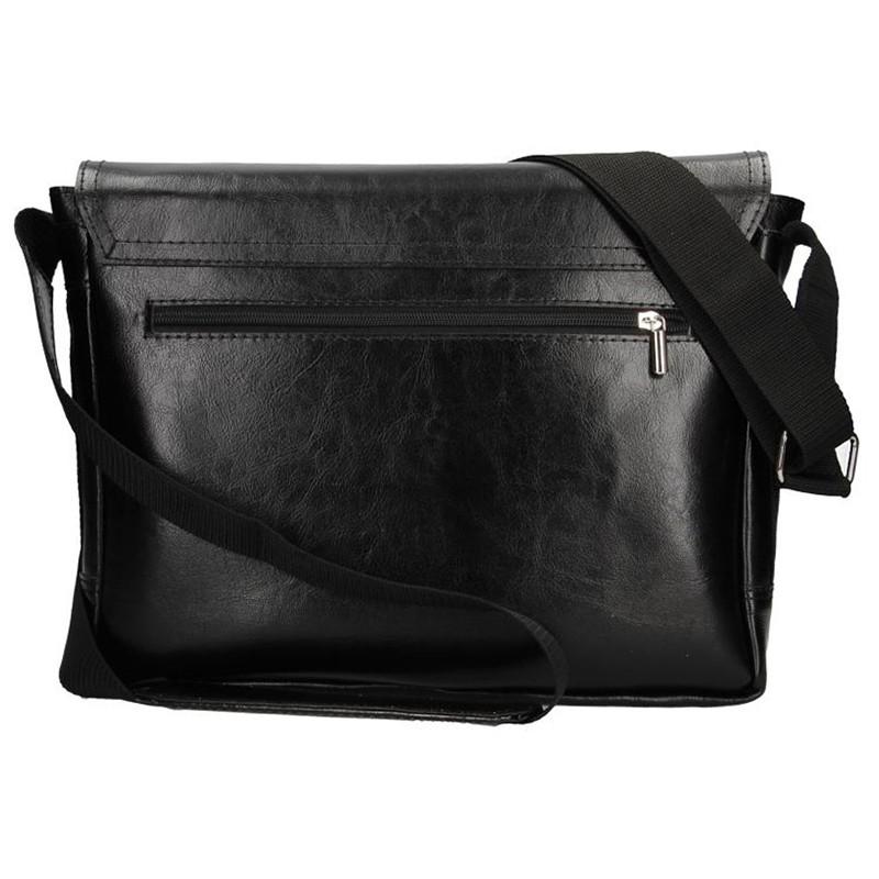 Pánská kožená taška na doklady Delami Levron - černá