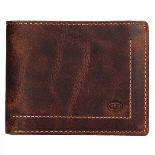 Pánská kožená peněženka DD Anekta Josef - hnědá