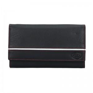 Dámská kožená peněženka DD Anekta Leona - černo-bílá