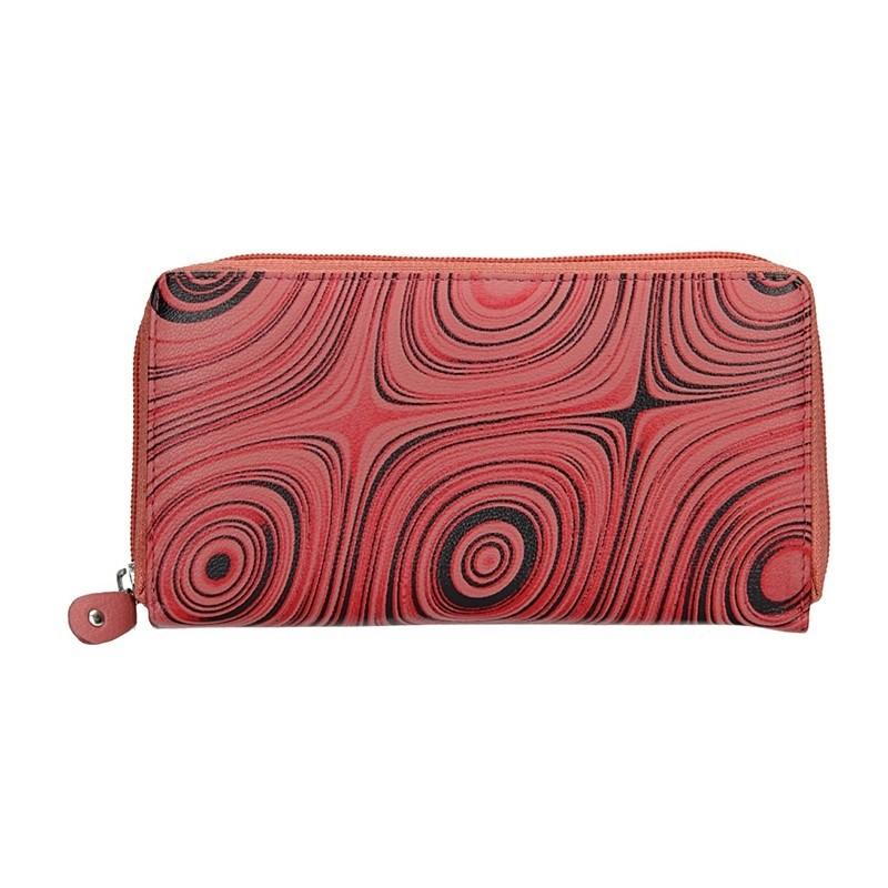Dámská kožená peněženka DD Anekta Soňa - červená