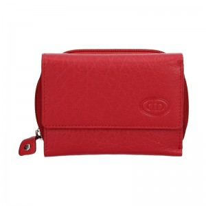 Dámská kožená peněženka DD Anekta Romana - červená