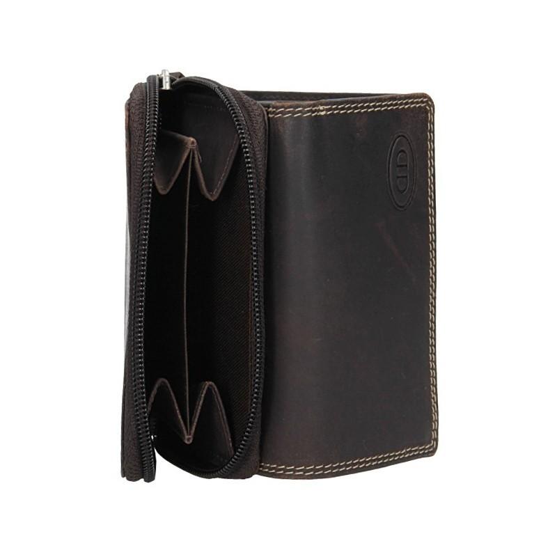 Dámská kožená peněženka DD Anekta Romana - hnědá