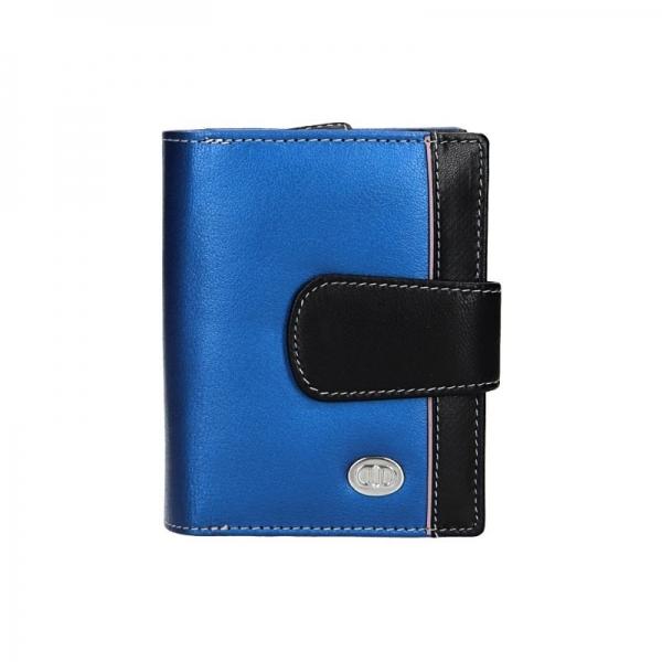 Dámská kožená peněženka DD Anekta Hana - modro-černá