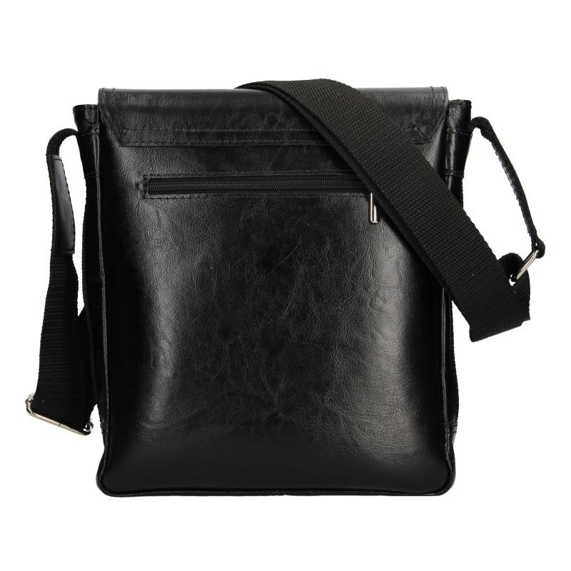 Pánská kožená taška na doklady Delami Arnold - černá