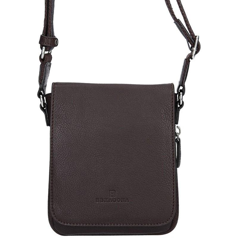 Pánská kožená taška na doklady Hexagona Ernest - hnědá f966886100