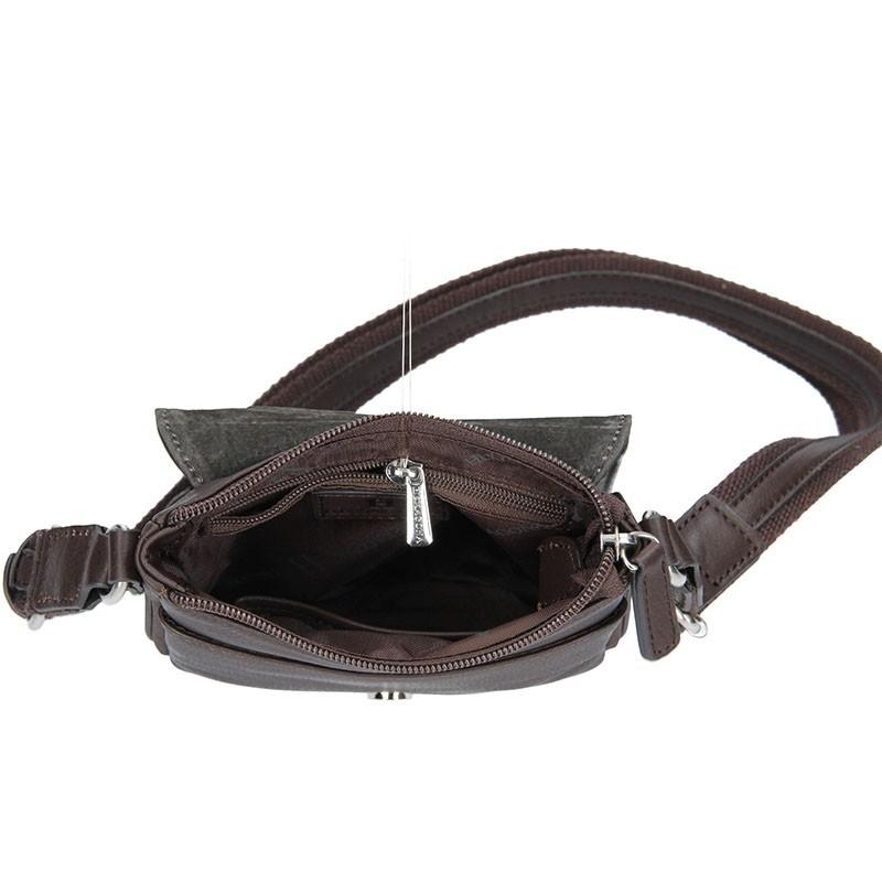 Pánská kožená taška na doklady Hexagona Ernest - hnědá