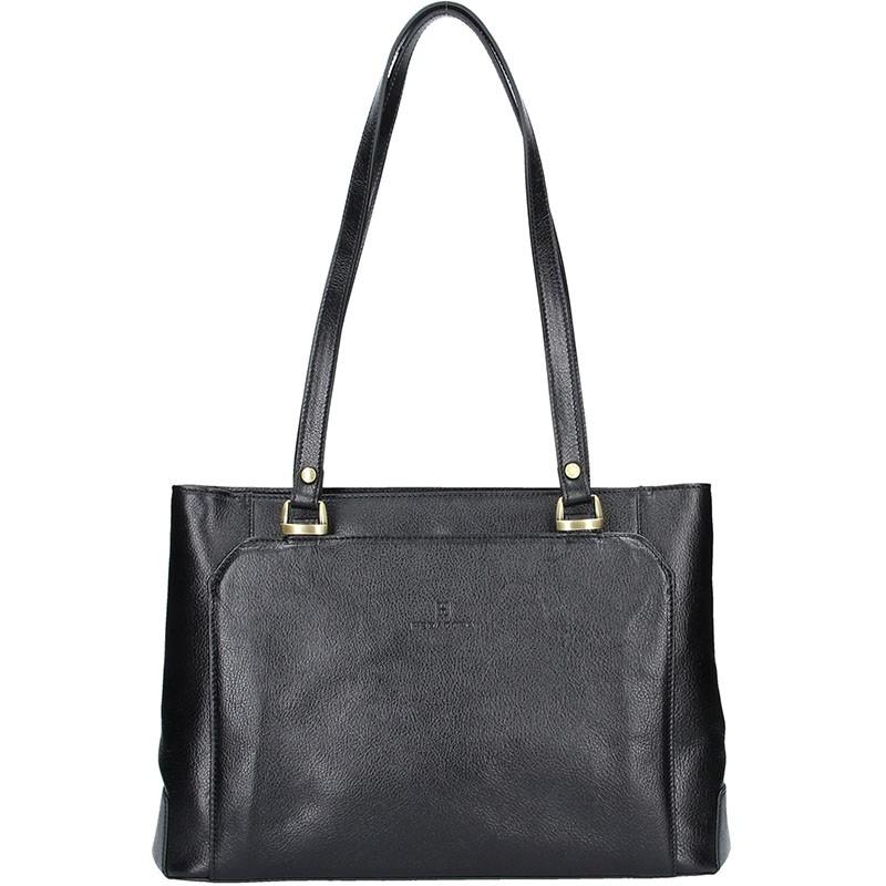 Luxusní kožená dámská kabelka Hexagona 111851A - černá f46bd958732